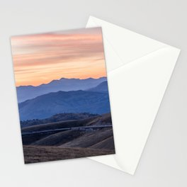 Sunset in the mountains Stationery Cards