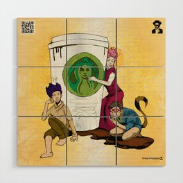Caffiends: The Aficionado, the Cat, and the Spaz Wood Wall Art