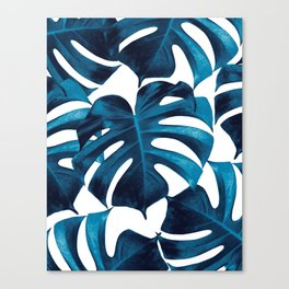 Tropical Monstera Leaves Dream #8 #tropical #decor #art #society6 Canvas Print