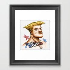 American Badass Framed Art Print