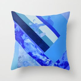 Seasonal Blue 3 Throw Pillow