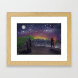 Stars in the Same Sky Framed Art Print