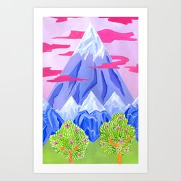 Lonely mountain Art Print