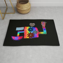 Colored fireworks machinery | Kids Painting by Elisavet Rug