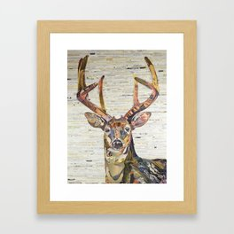 Whitetail Deer Buck Collage Art Framed Art Print