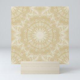 Peaceful kaleidoscope in beige Mini Art Print