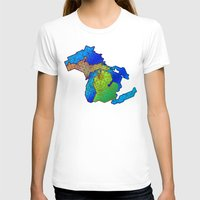 michigan T-shirts featuring Michigan by Dusty Goods
