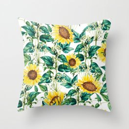 Sunflower Valley #society6 #decor #buyart #83oranges Throw Pillow