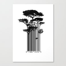Barcode Trees illustration  Canvas Print