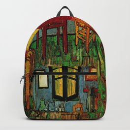Van Gogh, bedroom in arles– Van Gogh,Vincent Van Gogh,impressionist,post-impressionism,brushwork,pai Backpack