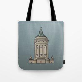 Mannheim water tower Tote Bag