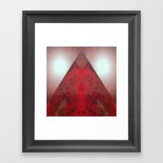 FX#412 - Red Pyramid Bright Framed Art Print