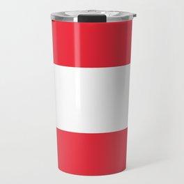 Austrian National flag - authentic version (High quality image) Travel Mug