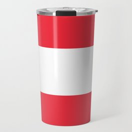 Austrian National flag - authentic version (High quality image) Travel Mug
