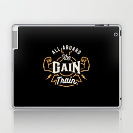 All Aboard The Gain Train Laptop & iPad Skin