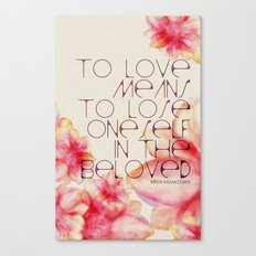To Love Means Canvas Print