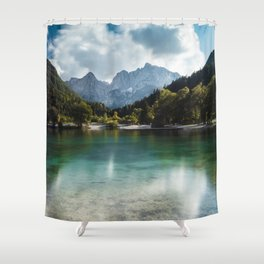 Lake Jasna in Kranjska Gora, Slovenia Shower Curtain