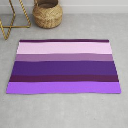 Purple (Stripes) Rug