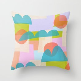 Shape Shifting No. 14 Abstract  Throw Pillow