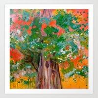 Treelight Art Print