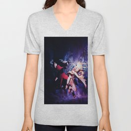 madara vs naruto mode bijuu Unisex V-Neck