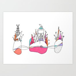 The Wolf and watertower. Art Print