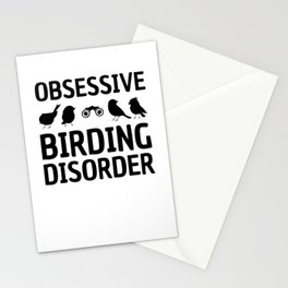 Obsessive Birding Disorder Funny Birdwatching product Stationery Cards