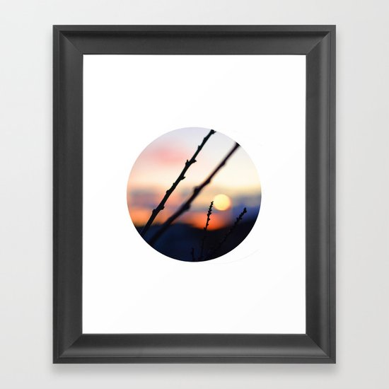 Bokeh Sunset Framed Art Print