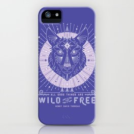 Wild & Free Wolf – Periwinkle iPhone Case