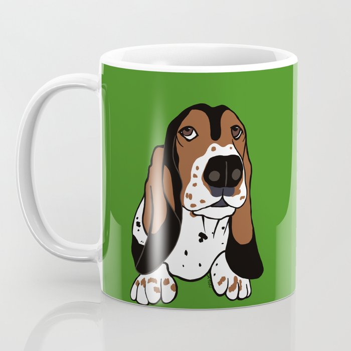 A Dog Mom and Her Basset Hound Coffee Mug