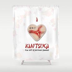 i love kintsugi Shower Curtain