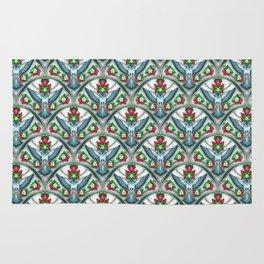 Bluebird Art Deco Pattern  Rug