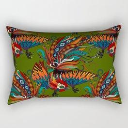 rooster ink green Rectangular Pillow