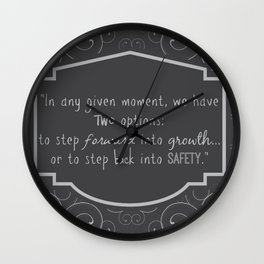 Abraham Maslow Quote Wall Clock