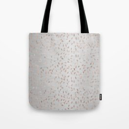 Falling Leaves in Rose Gold on Grey Tote Bag
