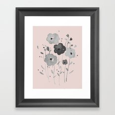 Whimsical spring bloom Framed Art Print