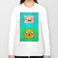 finn and jake Long Sleeve T-shirts featuring Finn & Jake by WolfFace