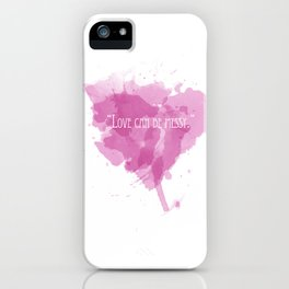 Love can be messy iPhone Case