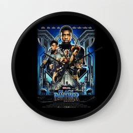 Black Panther movie Poster Wall Clock