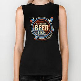 Funny Beer Party Drinking Gift Biker Tank