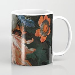 Abraham Mignon - A hanging bouquet of flowers Coffee Mug