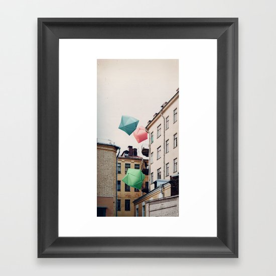 Paper bombies Framed Art Print