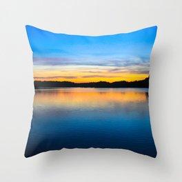 Sunset at Stumpy Lake in Virginia Beach Throw Pillow