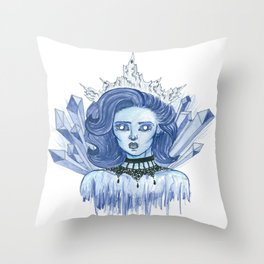Queen of ice Throw Pillow