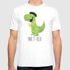 Mr. T-Rex MEDIUM Mens Fitted Tee White