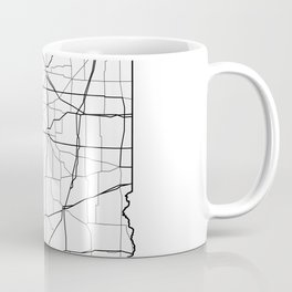 Illinois White Map Coffee Mug