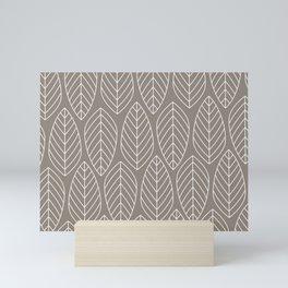 TAN LEAVES Mini Art Print