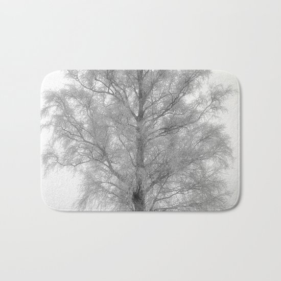 Birch in winter Bath Mat