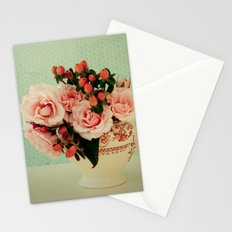 Little Pink Roses Stationery Cards
