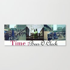 Beer-O-Clock : Art Print, Frames and Canvases Canvas Print